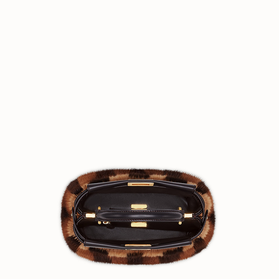 FENDI PEEKABOO ICONIC MINI - Black mink bag - view 4 detail