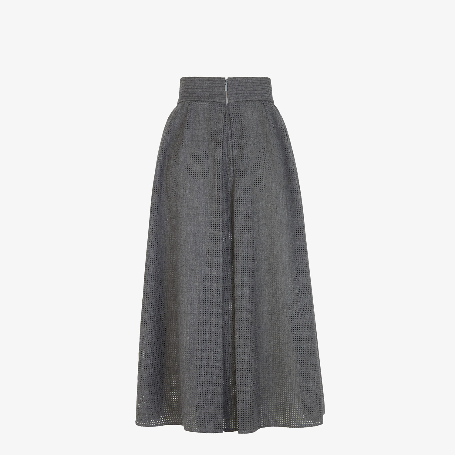 FENDI SKIRT - Grey flannel skirt - view 2 detail