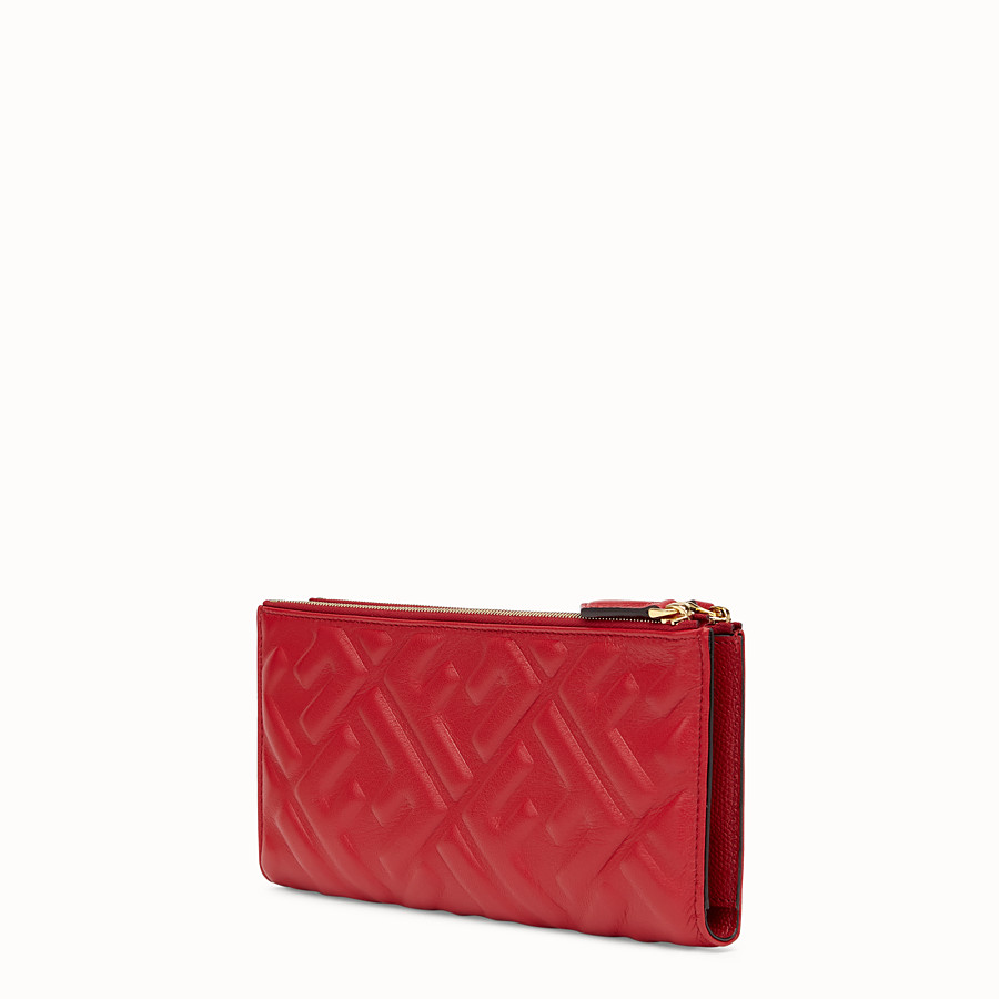 FENDI BIFOLD - Red leather wallet - view 2 detail