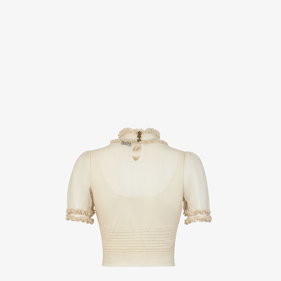 FENDI SWEATER - Beige nylon sweater - view 2 detail