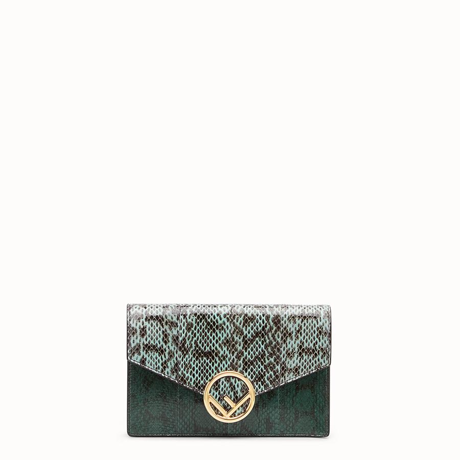 FENDI WALLET ON CHAIN - Minibag in elaphe verde - vista 1 dettaglio