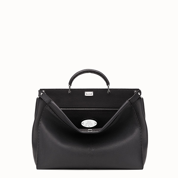 FENDI PEEKABOO MEDIUM - Small black Roman leather handbag - view 1 small thumbnail