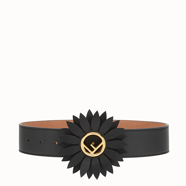 FENDI DAISY BELT - Black leather belt - view 1 small thumbnail