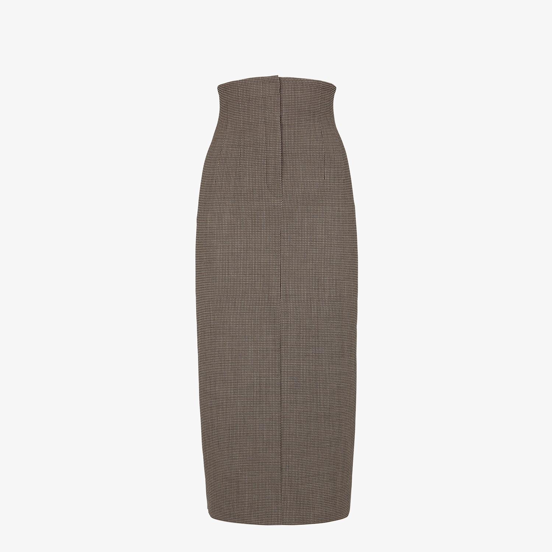FENDI SKIRT - Gray wool skirt - view 1 detail