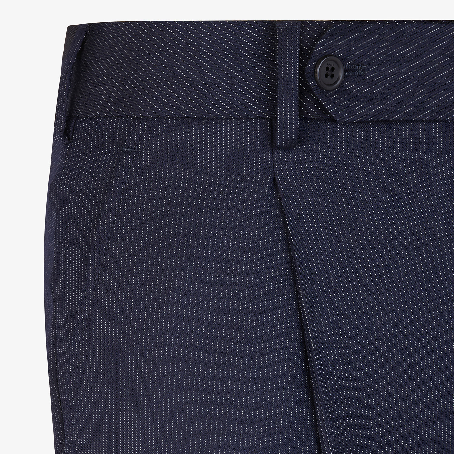 FENDI TROUSERS - Multicolour wool and silk trousers - view 3 detail
