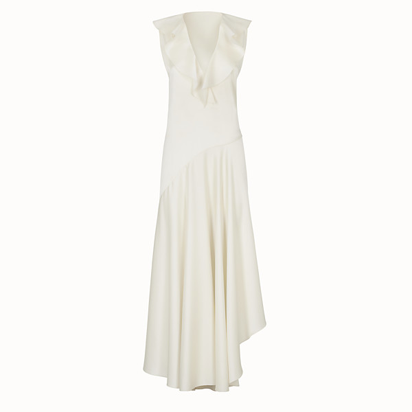 FENDI DRESS - White satin dress - view 1 small thumbnail
