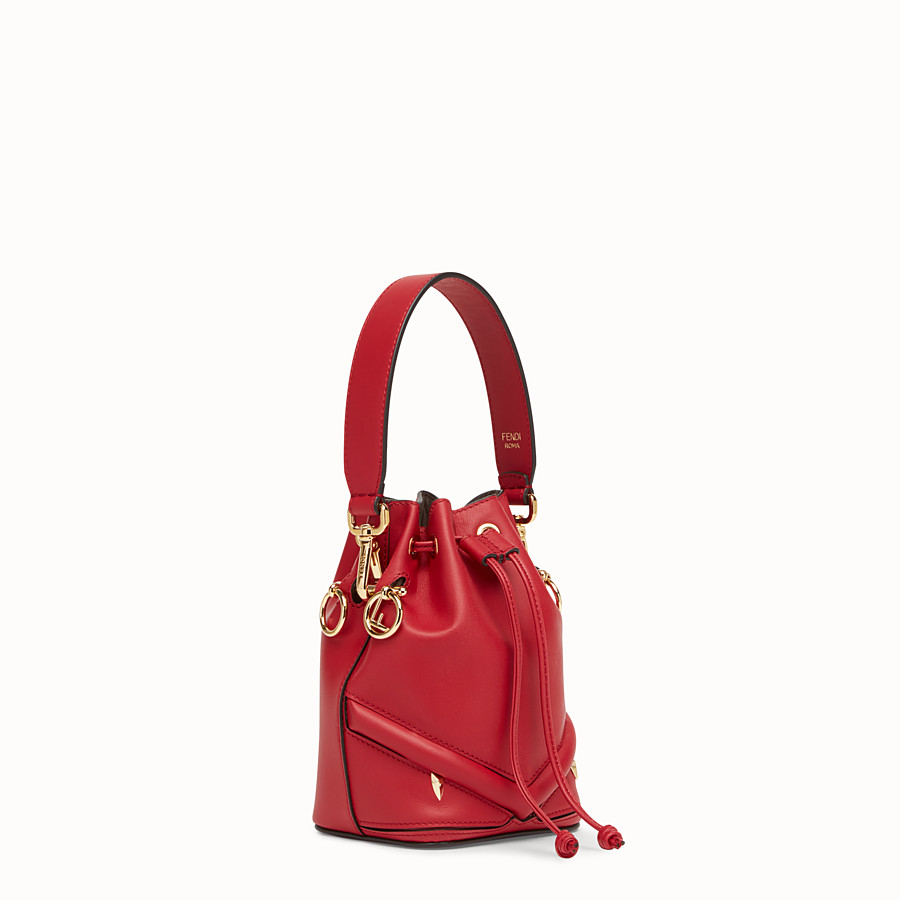 FENDI MON TRESOR - Mini-Tasche aus Leder in Rot - view 2 detail