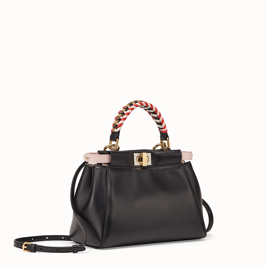 FENDI PEEKABOO MINI - Black nappa leather bag - view 3 detail
