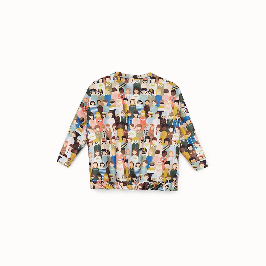 FENDI SWEATSHIRT - Multicolour fabric sweatshirt - view 2 detail