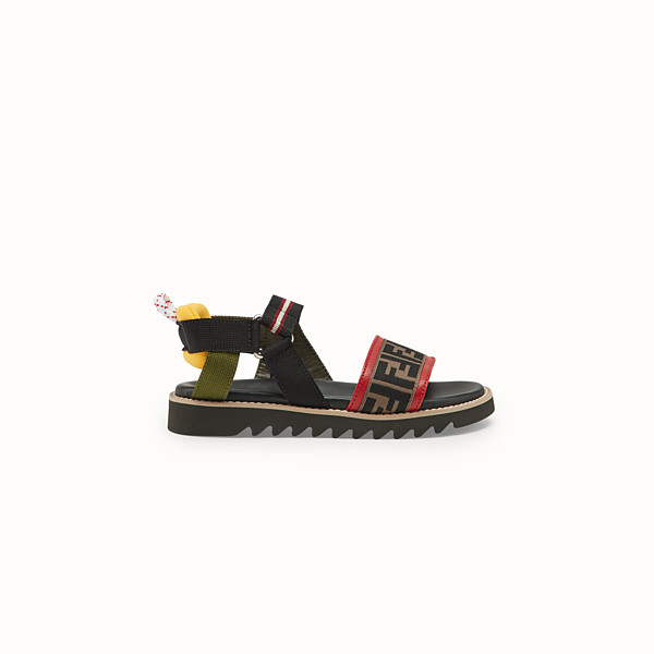 FENDI SANDALS - Black neoprene sandals - view 1 small thumbnail