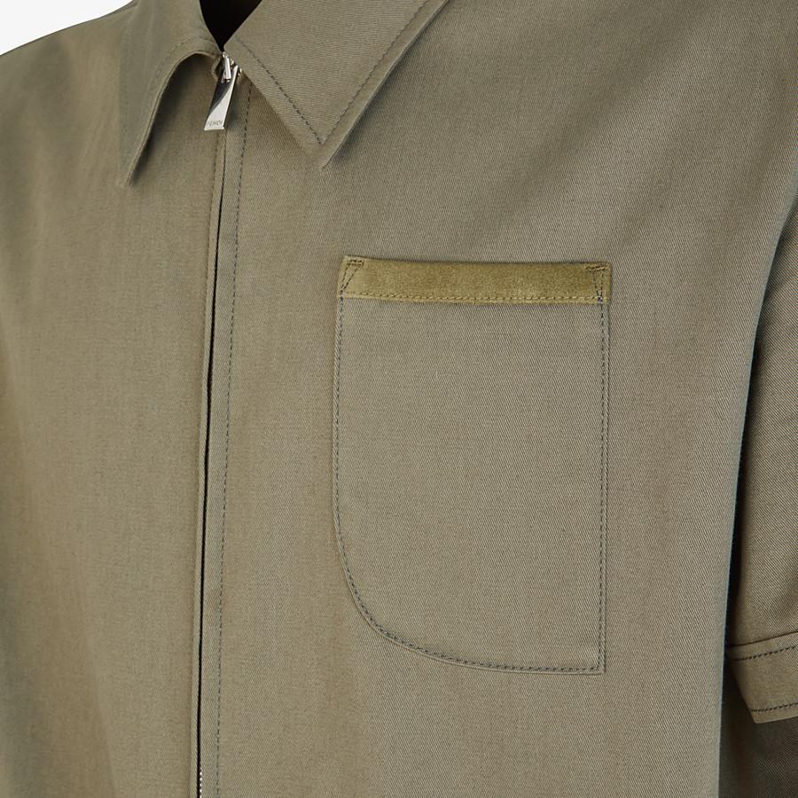 FENDI JUMPSUIT - Green cotton jumpsuit - view 3 detail