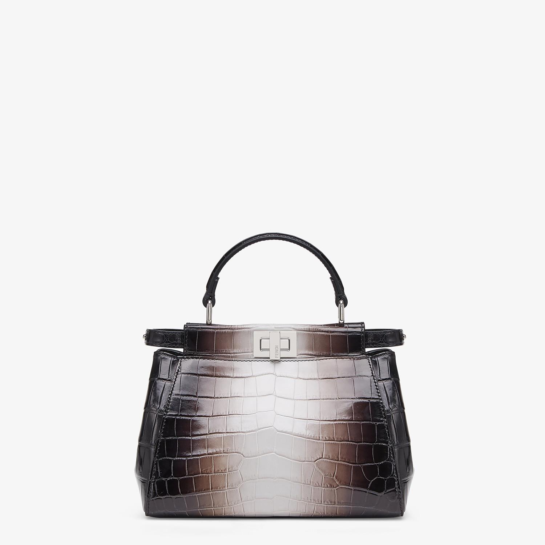 FENDI PEEKABOO ICONIC MINI - Crocodile leather bag in graduated colors - view 1 detail