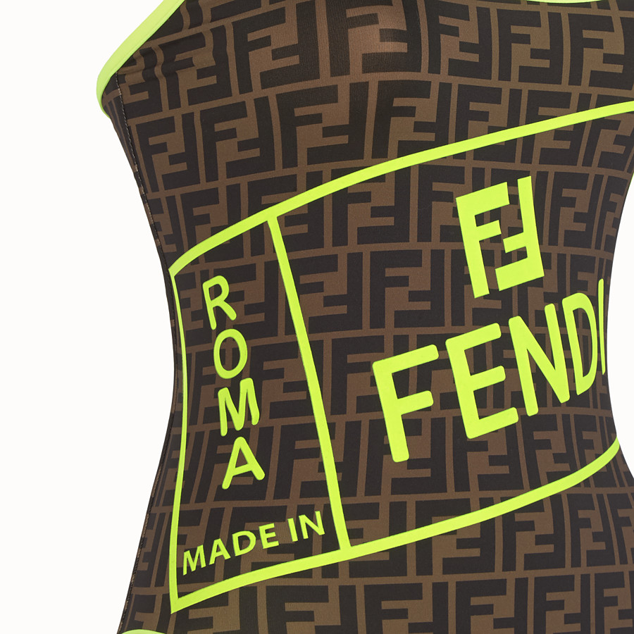 FENDI SWIMSUIT - Fendi Roma Amor Lycra® swimsuit - view 3 detail