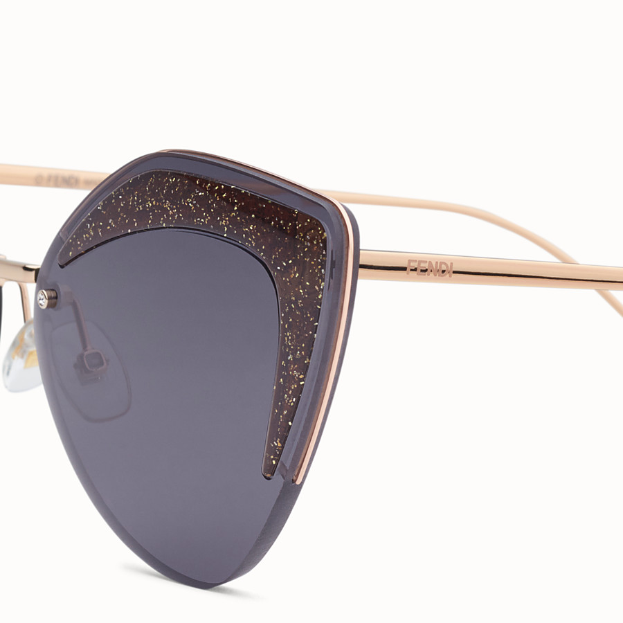 FENDI FENDI GLASS - Copper-coloured sunglasses - view 3 detail