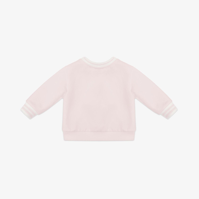 FENDI SWEAT-SHIRT BÉBÉ - Sweat-shirt bébé en jersey rose - view 2 detail