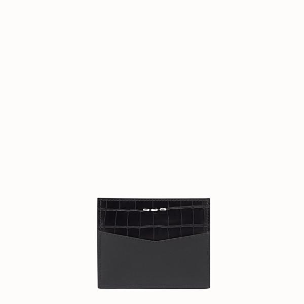 FENDI 卡片套 - 黑色皮革卡片套,4個夾層 - view 1 小型縮圖
