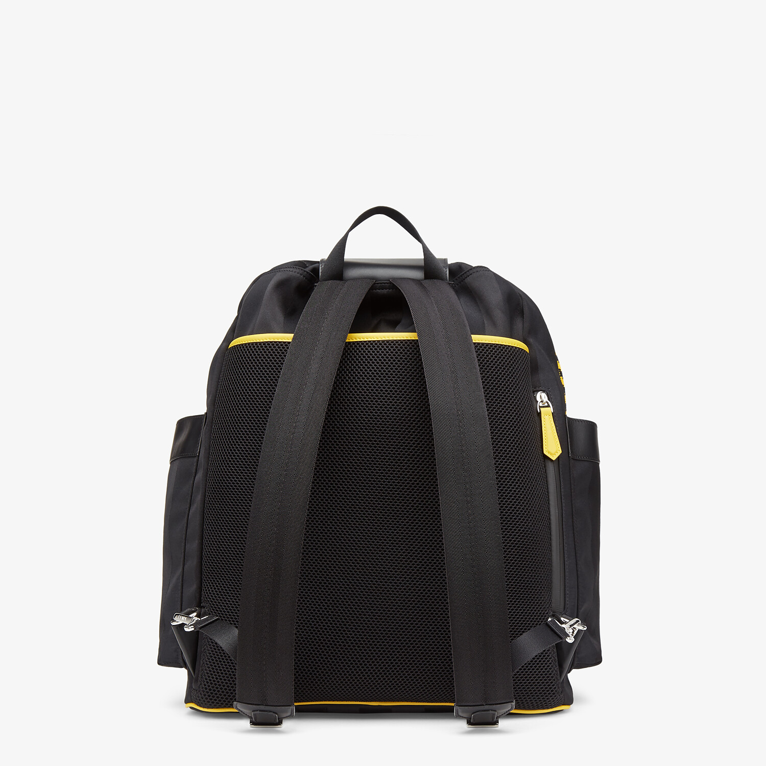 FENDI DRAWSTRING BACKPACK - Black nylon backpack - view 3 detail