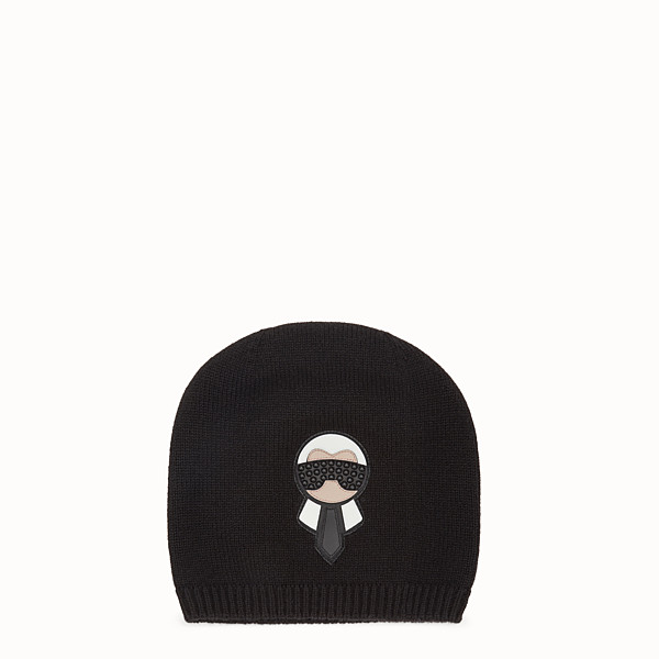 FENDI HAT - Karlito hat in black cashmere - view 1 small thumbnail