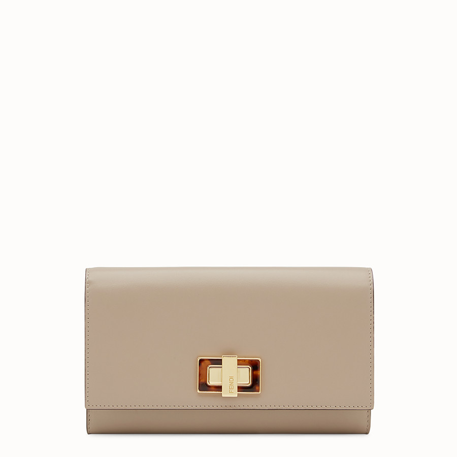 FENDI PEEKABOO WALLET - Continental wallet in dove-grey leather - view 1 detail