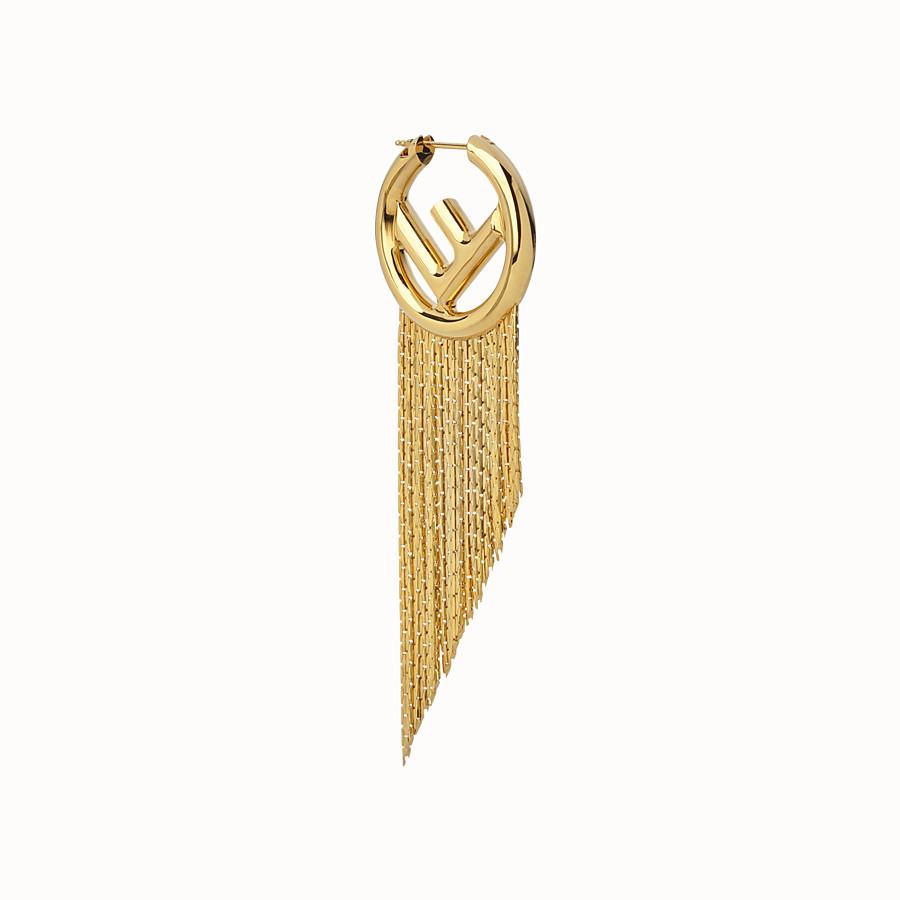 FENDI F IS FENDI EARRING - Gold coloured earring - view 1 detail