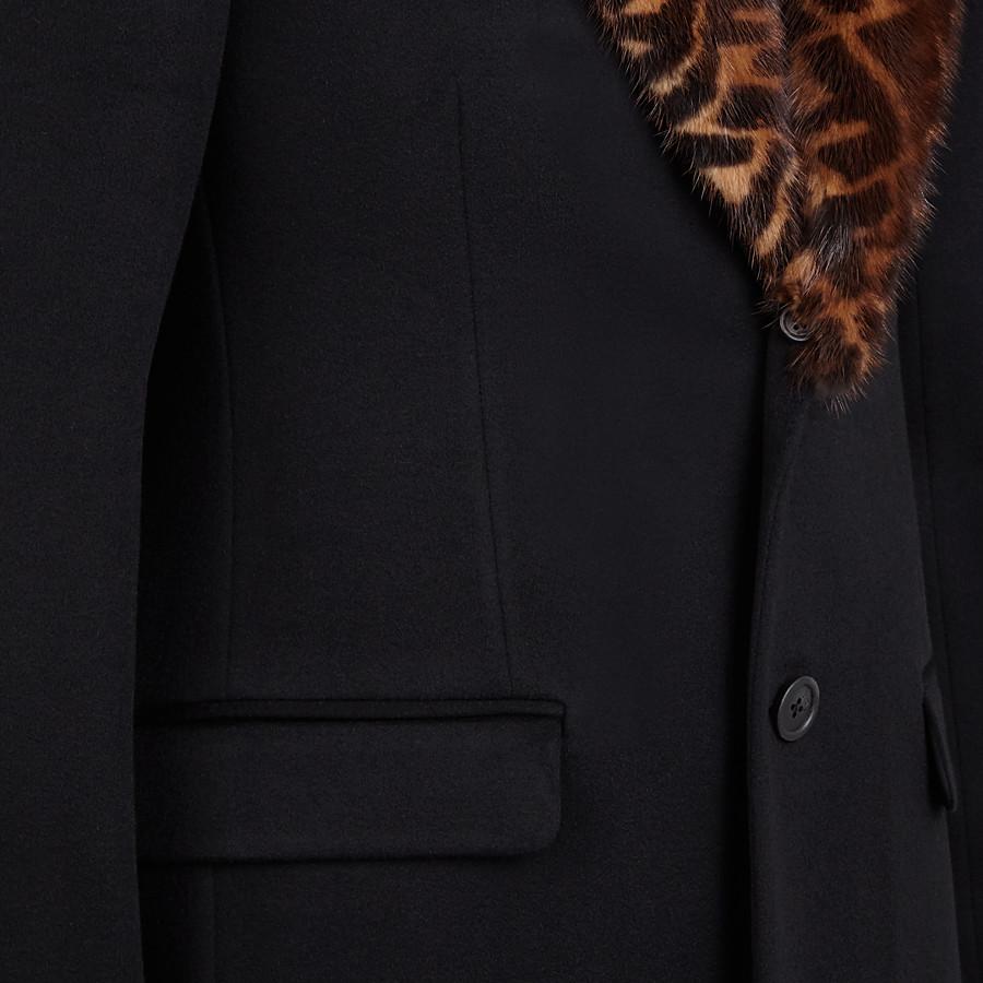FENDI COAT - Black cashmere coat - view 3 detail