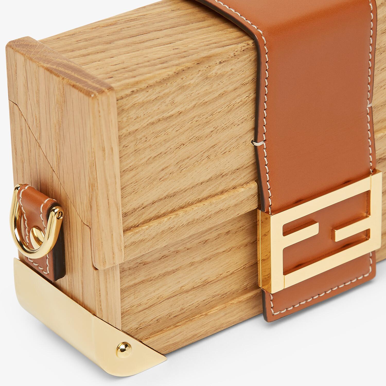 FENDI BAGUETTE TRUNK MINI - Natural wood bag - view 5 detail