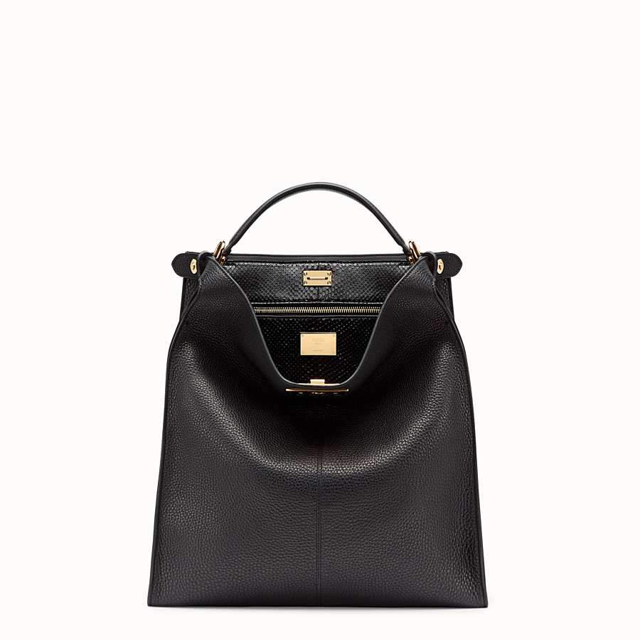 FENDI PEEKABOO X-LITE FIT - Sac en cuir romain noir - view 2 detail
