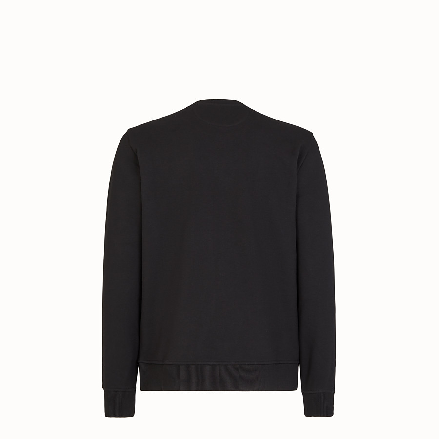 FENDI SWEATSHIRT - Black jersey sweatshirt - view 2 detail