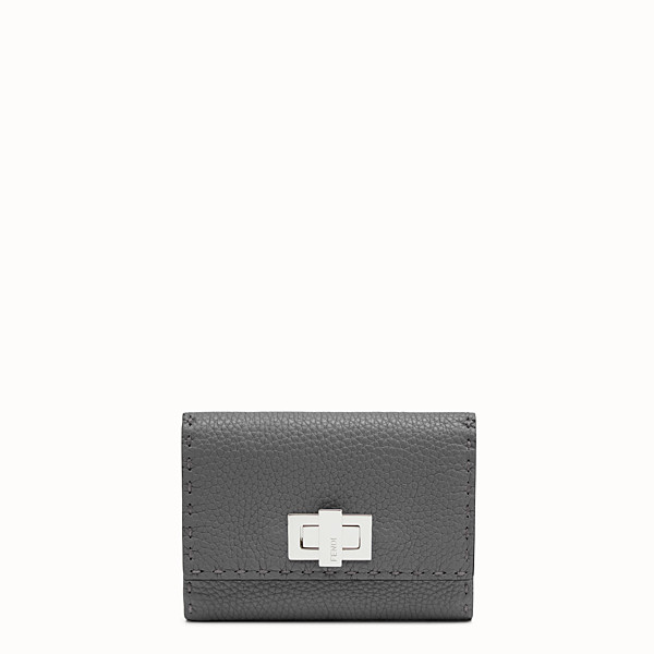 FENDI CONTINENTAL MEDIUM - Grey leather wallet - view 1 small thumbnail
