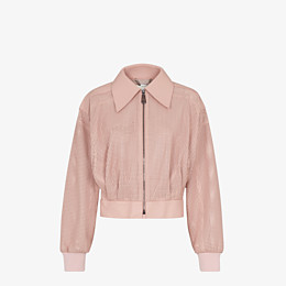 FENDI JACKET - Pink leather jacket - view 1 thumbnail