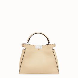 FENDI PEEKABOO ICONIC ESSENTIALLY - Beige leather bag - view 1 thumbnail