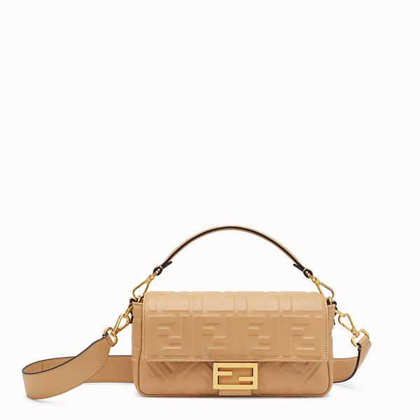 FENDI BAGUETTE - Beige leather bag - view 1 small thumbnail
