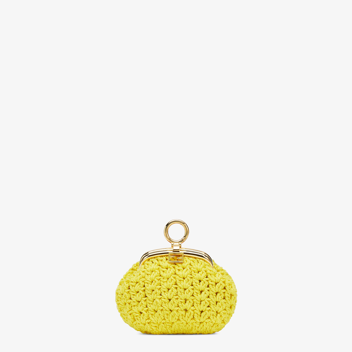 FENDI COIN PURSE - Yellow lace coin purse - view 1 detail