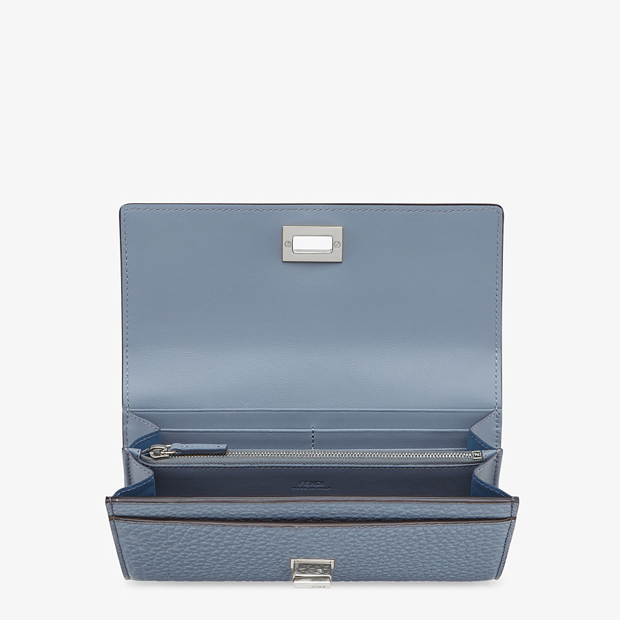 FENDI CONTINENTAL - Light blue leather wallet - view 3 detail
