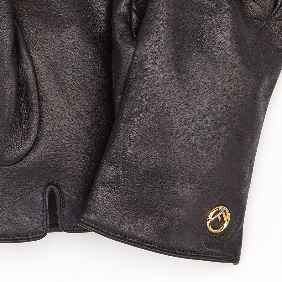 FENDI GLOVES - Black nappa leather gloves - view 2 detail