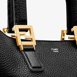 FENDI FF TOTE MEDIUM - Black leather bag - view 5 thumbnail