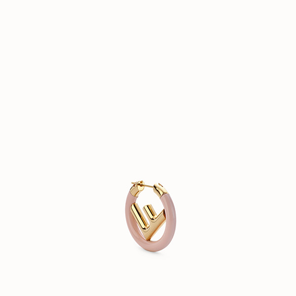 FENDI F IS FENDI EARRING - Gold and pink coloured earring - view 1 small thumbnail