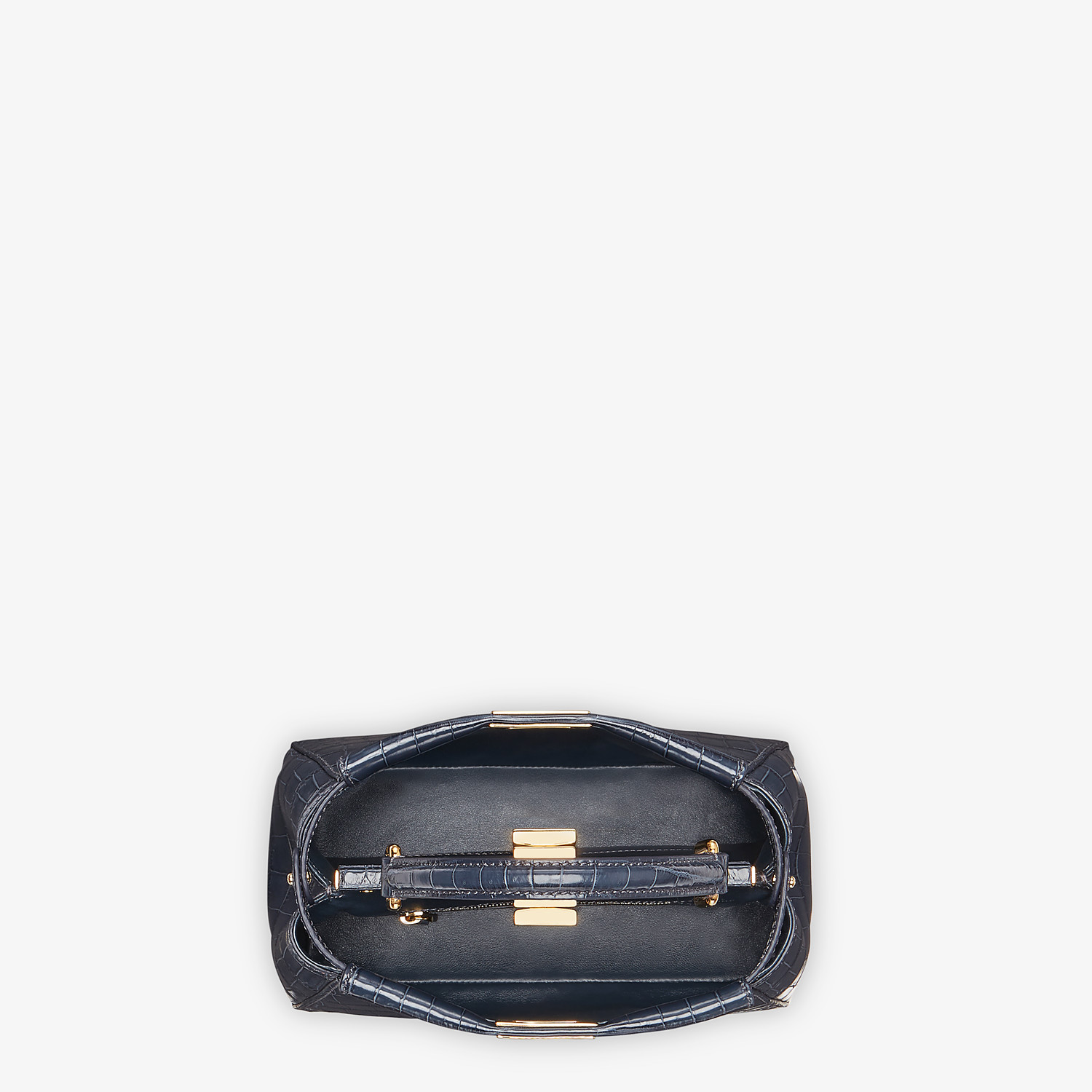 FENDI PEEKABOO MINI - Black crocodile bag - view 4 detail