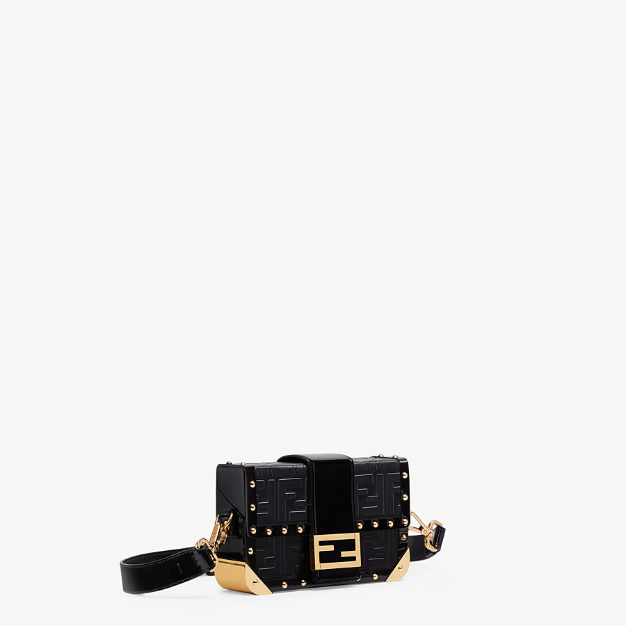 FENDI BAGUETTE TRUNK MINI - Black leather bag - view 2 detail