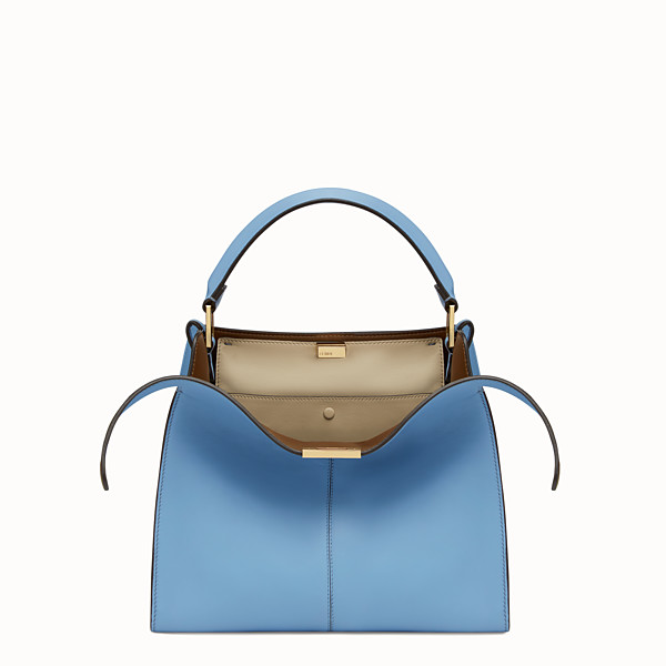 FENDI PEEKABOO X-LITE REGULAR - Tasche aus Leder in Blau - view 1 small thumbnail