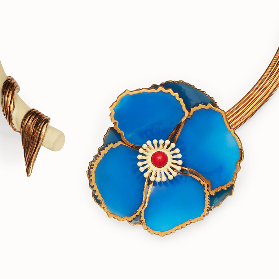 FENDI CHOKER FLOWERS - Multicolor necklace - view 2 detail