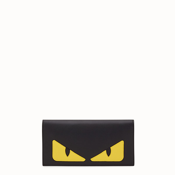 FENDI WALLET - Black leather continental wallet with inlay - view 1 small thumbnail