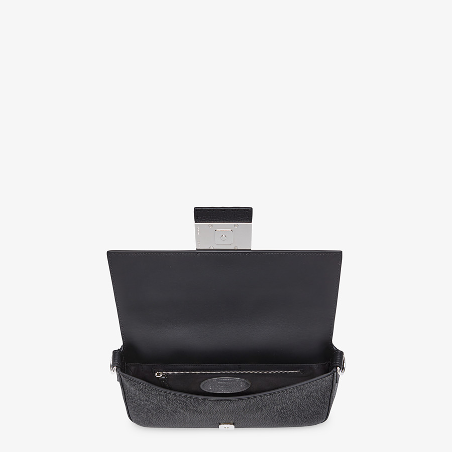 FENDI BAGUETTE - Black calf leather bag - view 5 detail