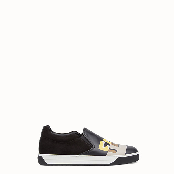 FENDI SNEAKERS - Multicolour leather slip-ons - view 1 small thumbnail
