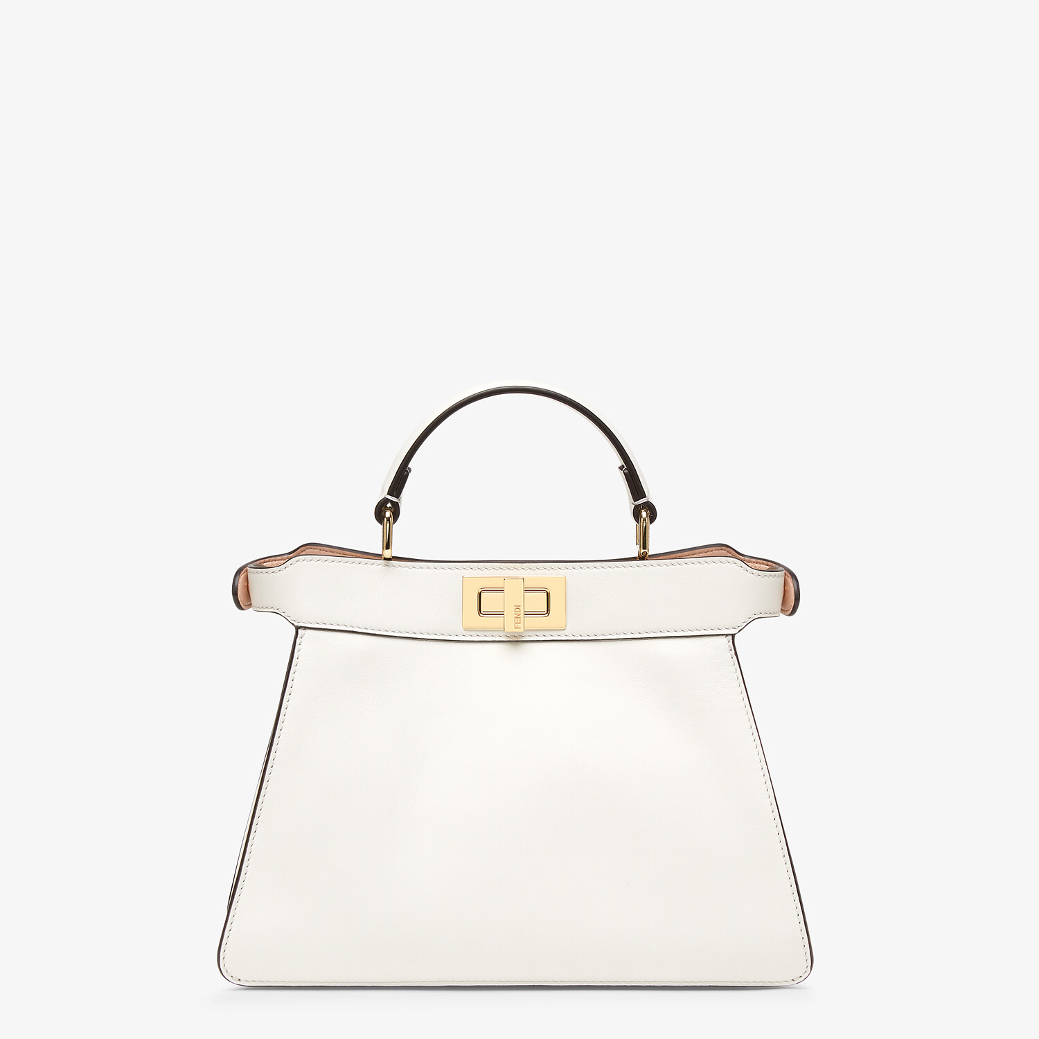 FENDI PEEKABOO ISEEU SMALL - White leather bag - view 4 detail