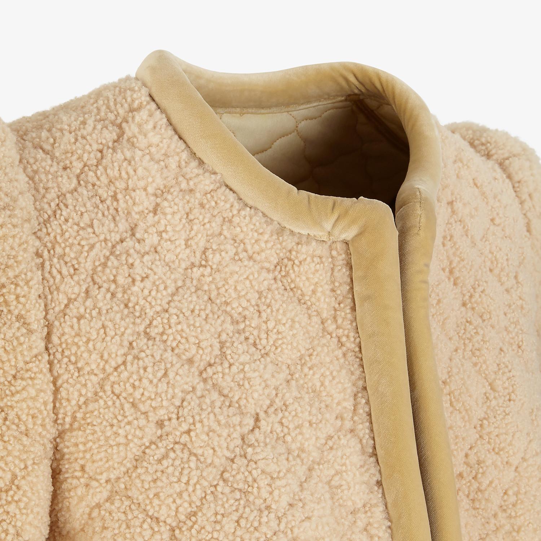 FENDI JACKET - Beige shearling jacket - view 3 detail