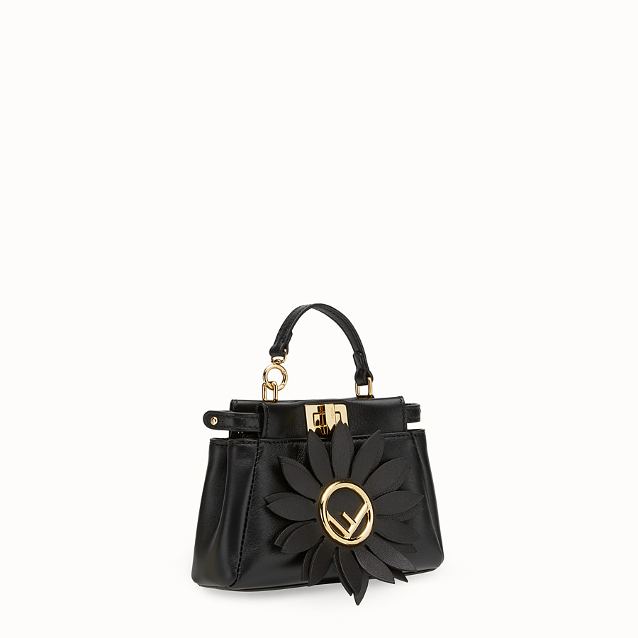 FENDI MICRO PEEKABOO - Black leather micro-bag - view 2 detail
