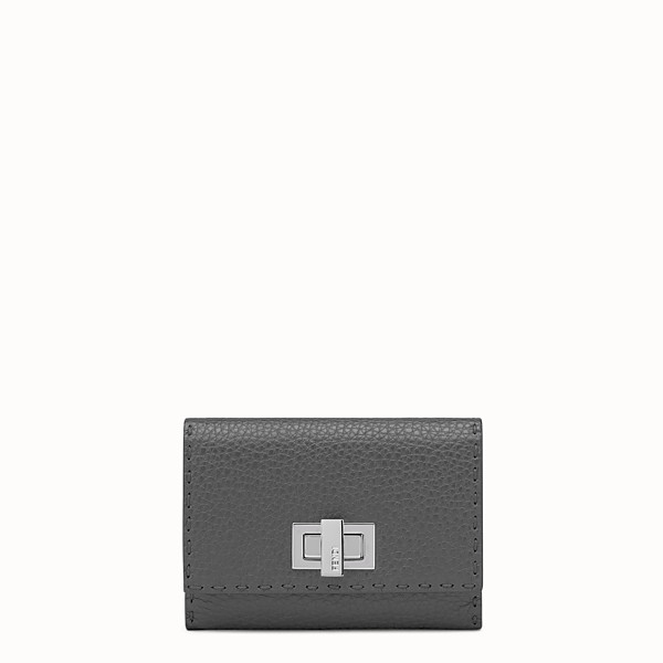 FENDI WALLET - Grey Roman leather wallet - view 1 small thumbnail