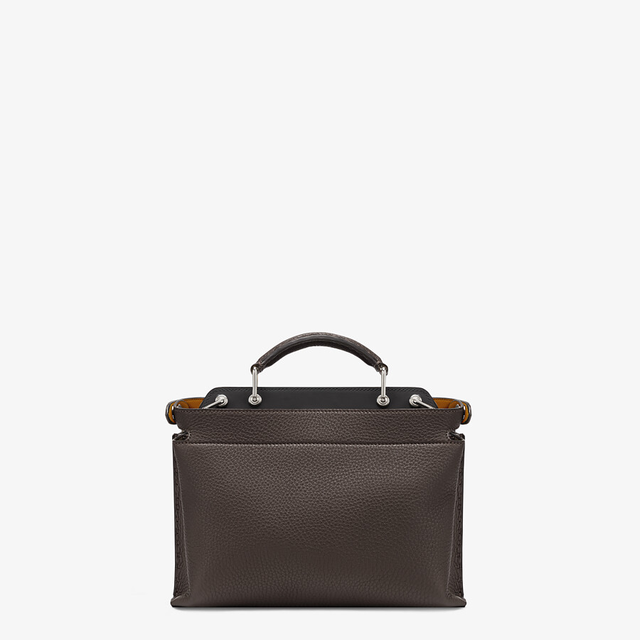 FENDI PEEKABOO ICONIC ESSENTIALLY - Tasche aus Leder in Braun - view 3 detail