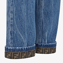 FENDI DENIM - Dark blue denim jeans - view 3 thumbnail